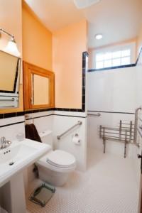 Four design aspects for handicap bathrooms