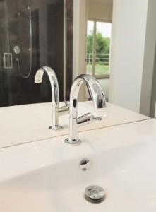 installed sink in backthroom