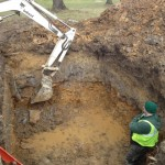 digigng hole prior to water meter vault install