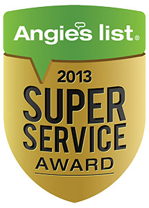 2013 Angie's List Super Service Award *Winner*